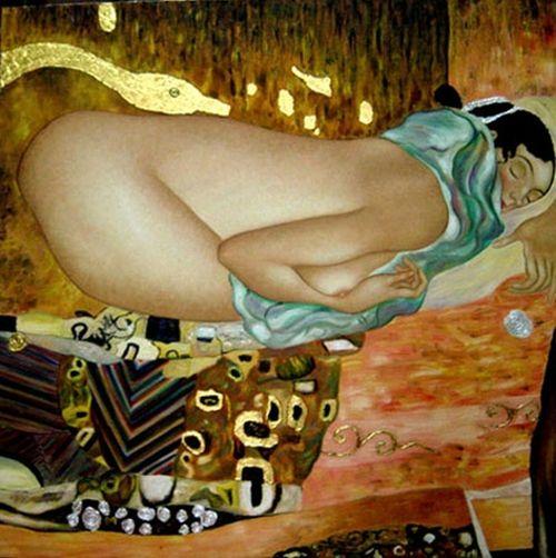back_Leda_Gustav Klimt (1862–1918)