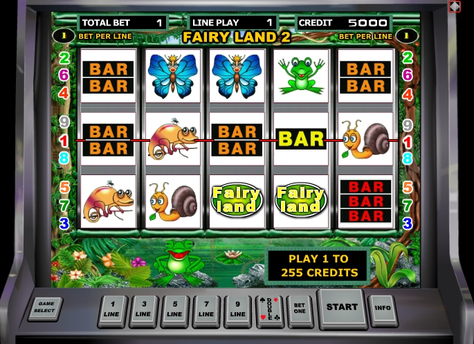 Забавные лягушки в автомате Fairy Land 2