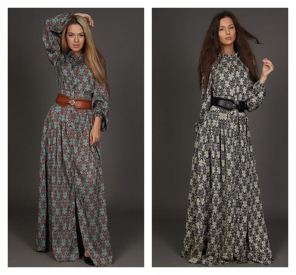 мода платья в пол