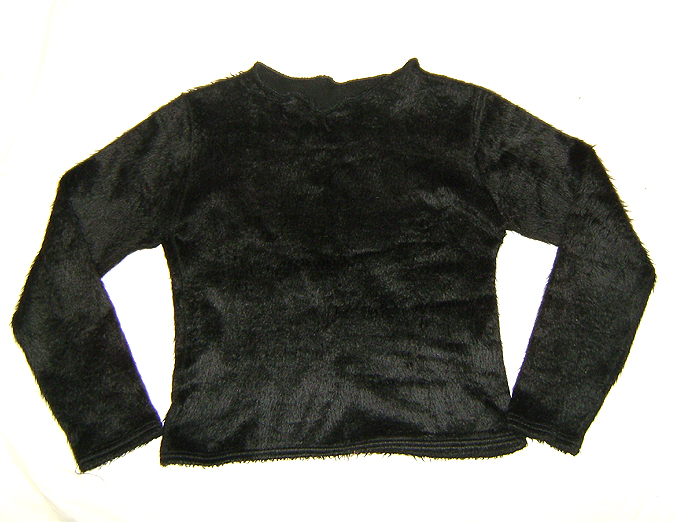 furry sweater black