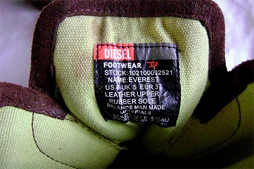 diesel steampunk boots label