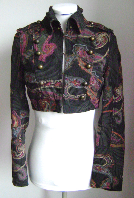 mng paisley mil jacket front on