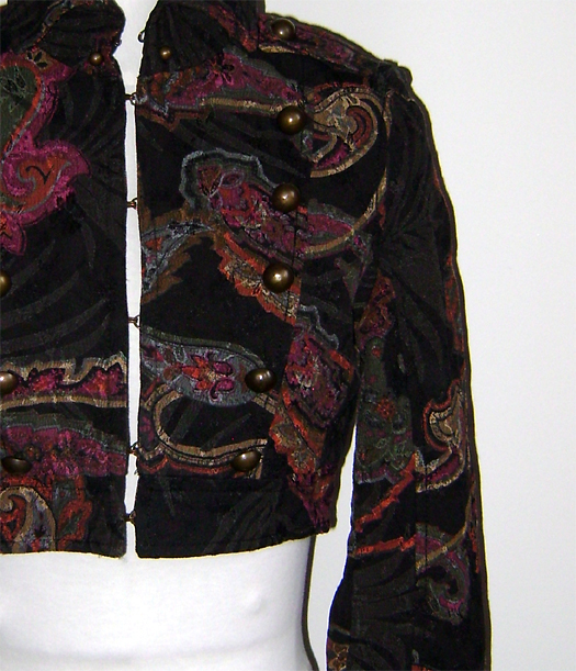 mng paisley mil jacket detail 2
