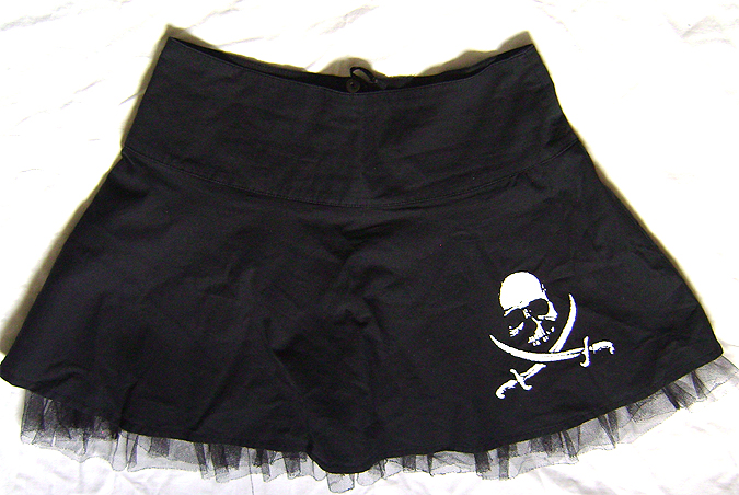 pirate skirt cotton netting