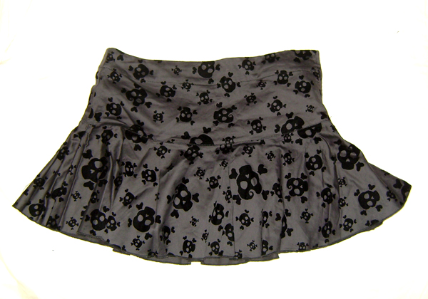 h&m skull flock circle skirt