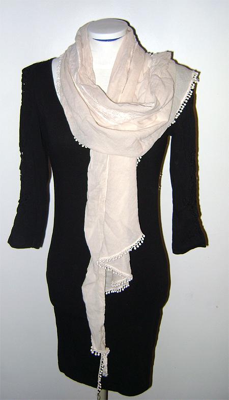 h&m dress & organic cotton scarf