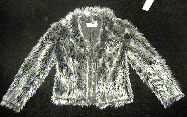 silver grey fur jacket