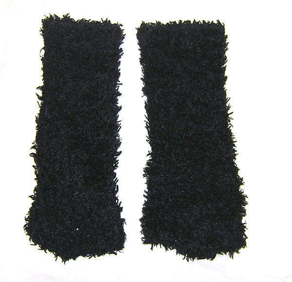 leg warmers fluffy black