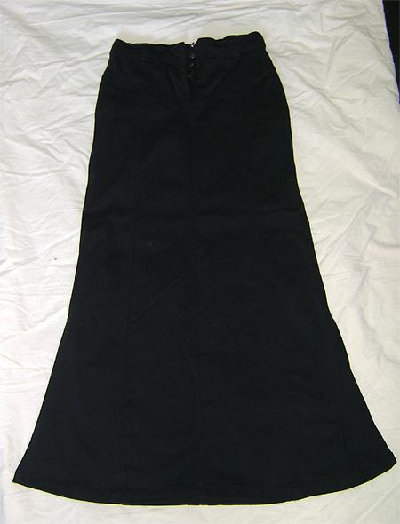 long fishtail cotton skirt