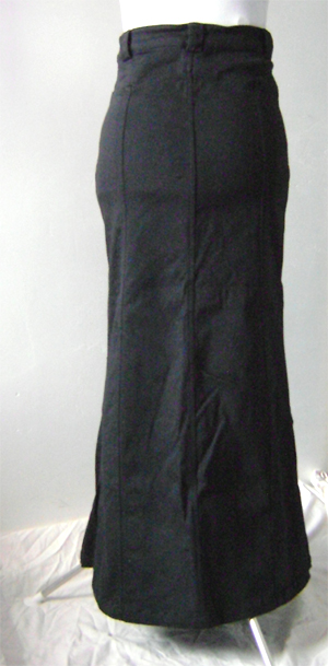 long fishtail cotton skirt on back
