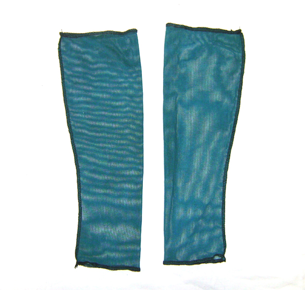 turquoise arm warmers mesh