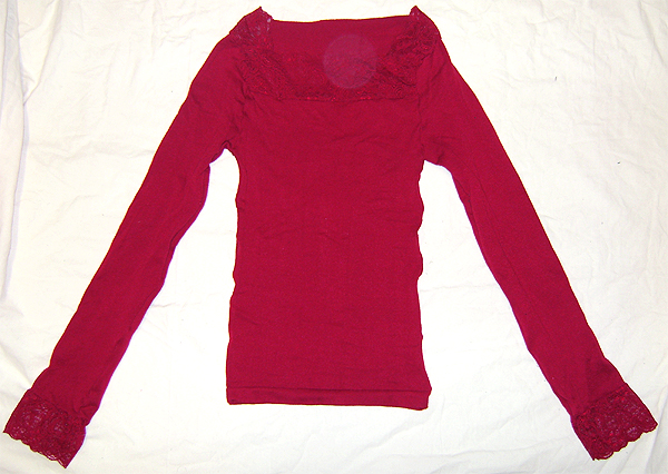 wine red stocking top