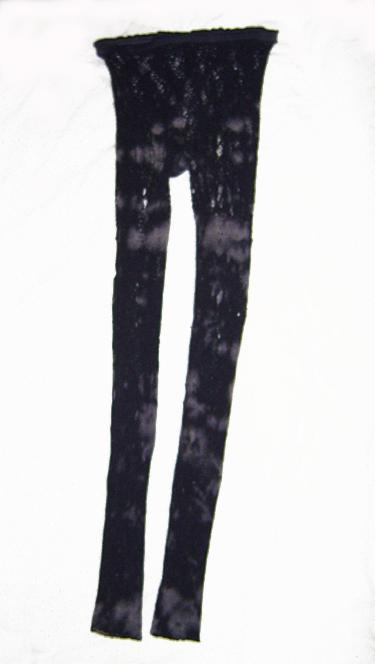 distressed grey lace leggings