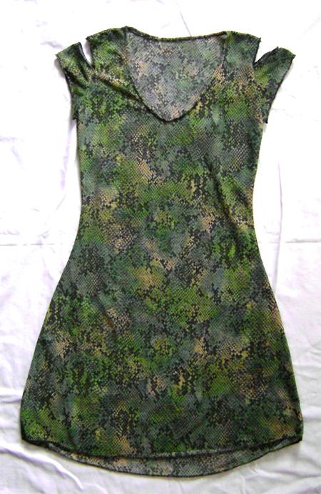 green snake print dress