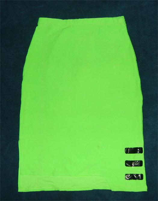 neon green cyber skirt