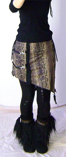 bondage snake skirt on