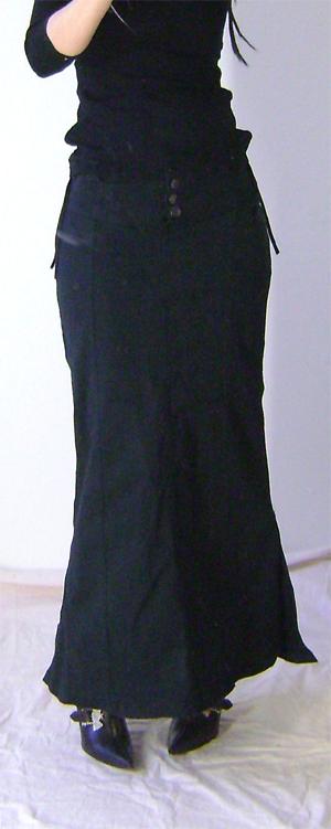 long fishtail skirt on