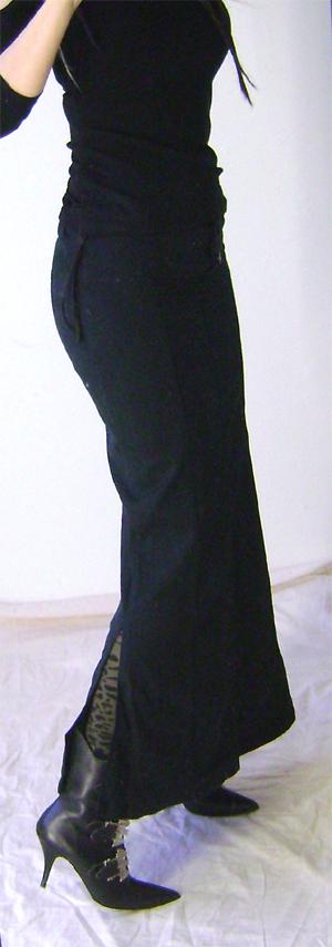 long fishtail skirt on 2