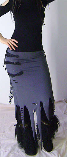 grey tentacle skirt on 2