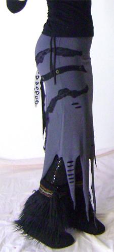 grey tentacle skirt on