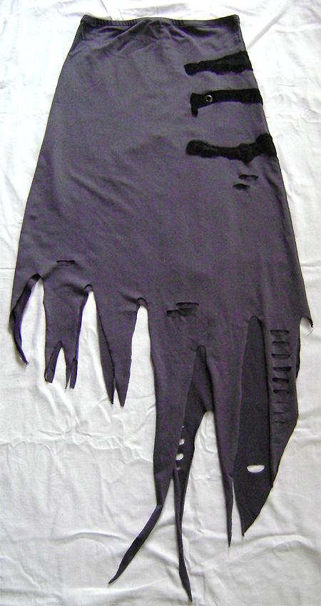 grey tatter voodoo skirt long front