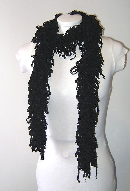 black chenille scarf