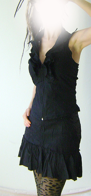 halter top with ruffles on 2