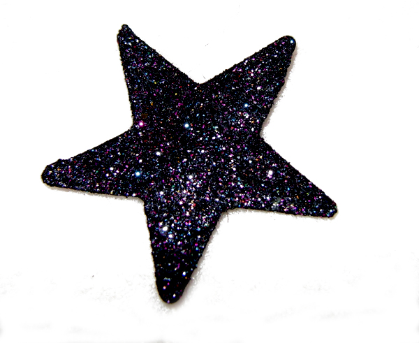 black glitter hair star 3 (4)
