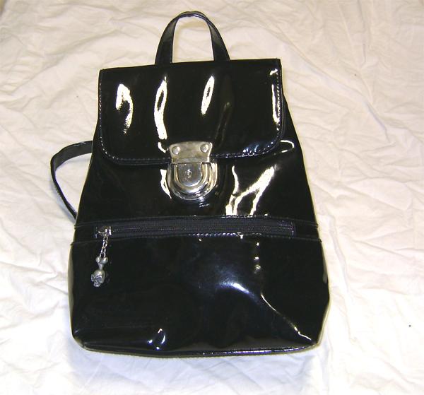 pvc clubbing backpack