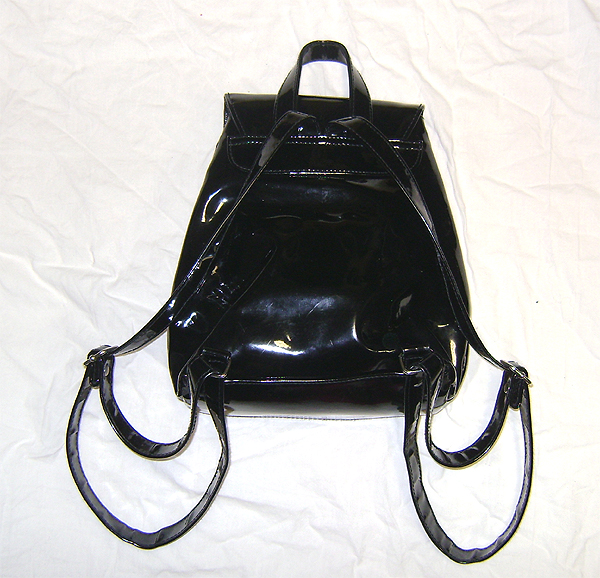 pvc clubbing backpack back