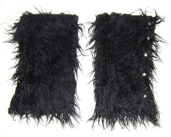 button leg warmers furry