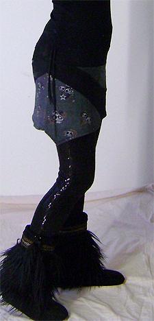 spiral skull skirt on 2