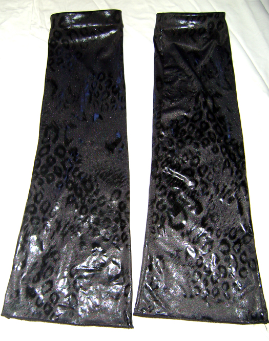 wetlook leo overknee boot covers