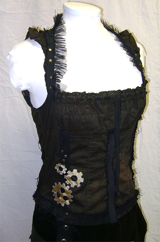 steampunk bustier front on