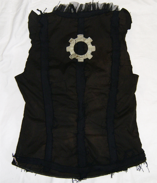 steampunk bustier back