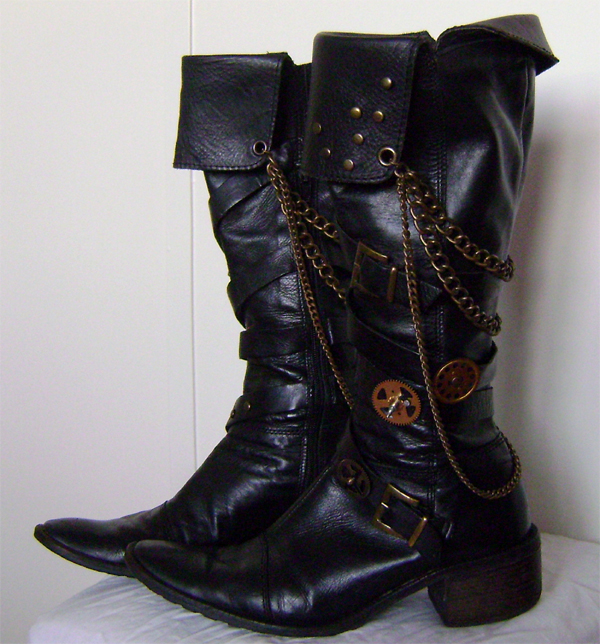 steampunk boots left side