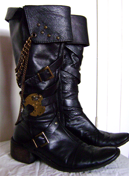 steampunk boots right side