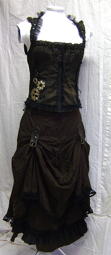 steampunk outfit front on