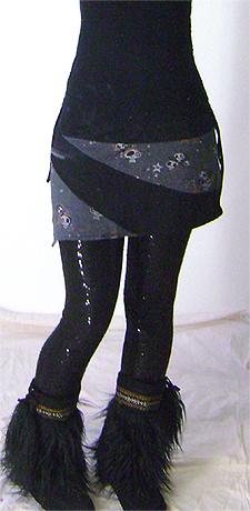 spiral skull skirt on