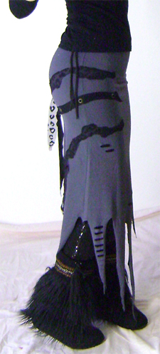 grey tentacle skirt on