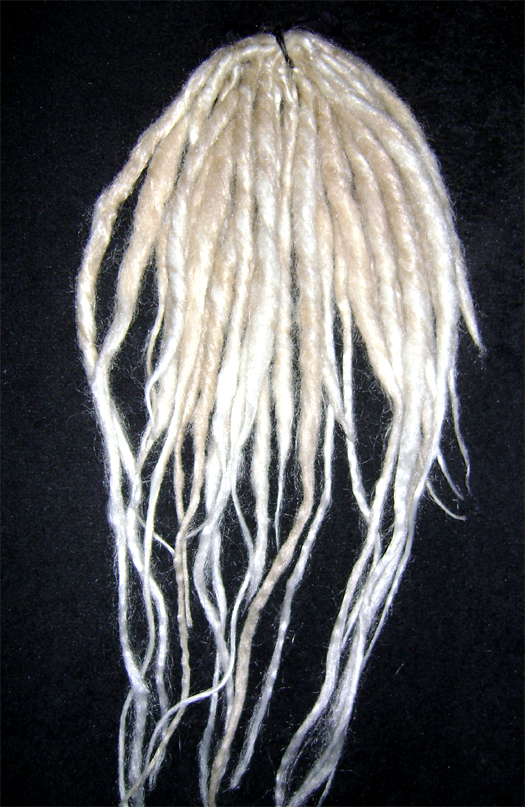 14 blond white dreads