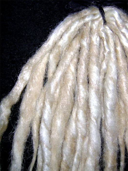 14 blond white dreads detail