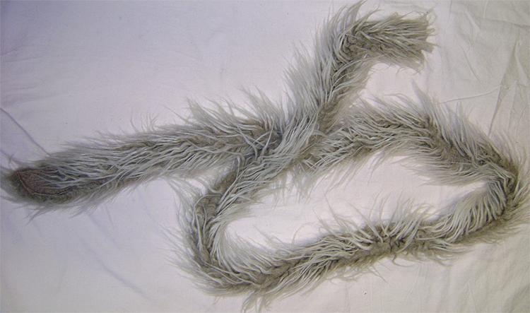 beige fluffy scarf