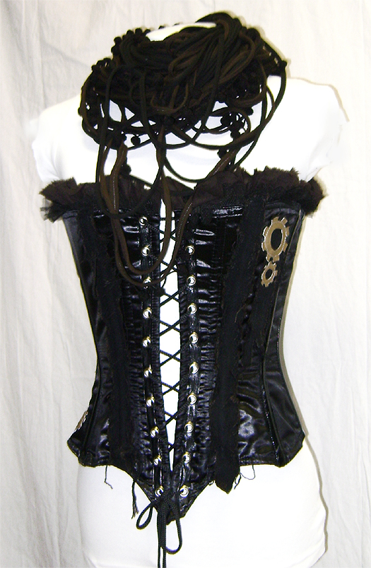 gears corset & corroded loop scarf