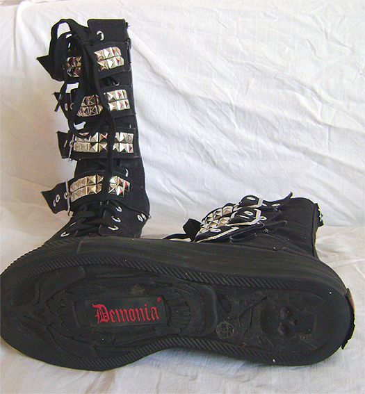demonia buckle boots 3