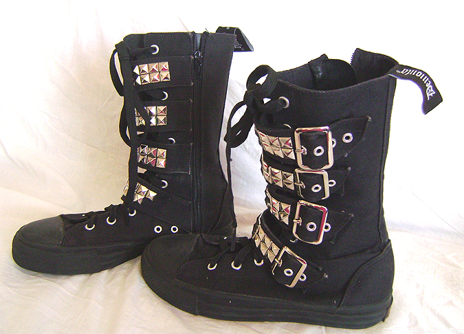demonia buckle boots 2