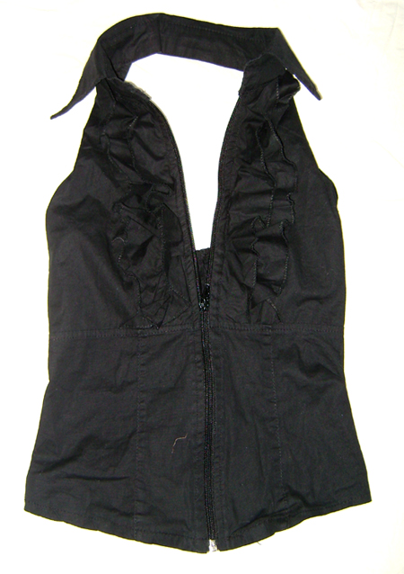 halter top with ruffles