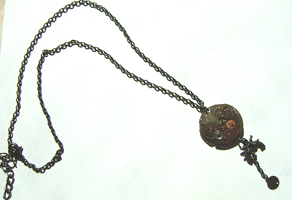 steampunk gear &guns neckless