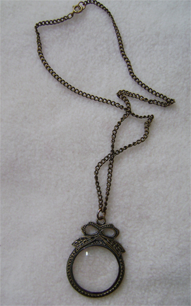 steampunk opera glass neckless