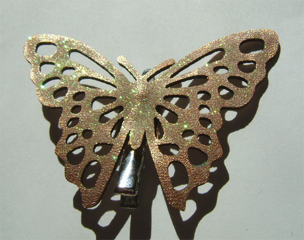 golden glitter hair butterfly 2